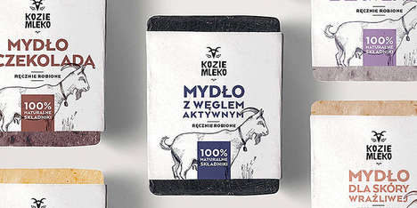 Goat Milk Soaps - These Hand-Made Soaps Boast Illustrated Imagery and Packaging Labels