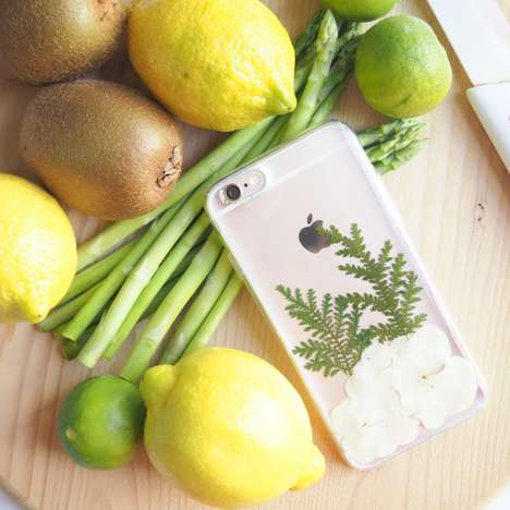 Flower-Infused Phone Cases - The Winter Love Hydrangea Phone Case