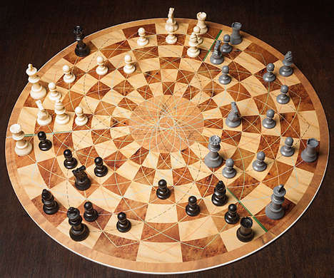 Complex Multiplayer Boardgames - This Three Player Chess Set Will Enhance the Game for Experts