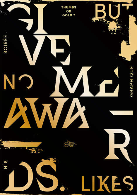 Typographic Club Posters - These Moody Graphic Posters Mimic the Style of the Music They Advertise