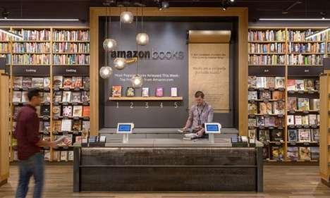 Online Retailer Bookstores - Amazon Books Opened Its First Physical Store Using Online Data