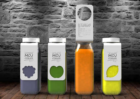 Functional Bottle Labels - This Easy-to-Carry Bottle Label Concept Features a Built-In Handle