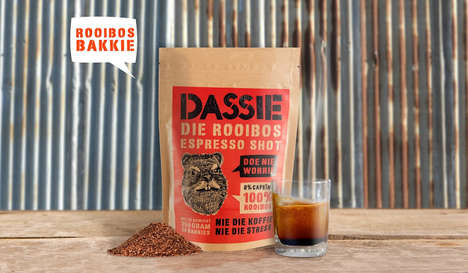 Rock Badger Tea Packaging - This South African Tea Features a Cheeky Animal Mascot on the Label