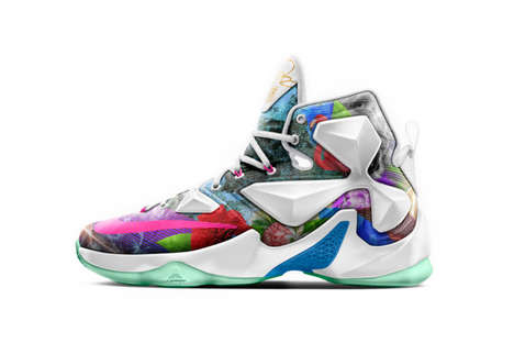 Celebratory Basketball Sneakers - A New Nike LeBron 13 is Released After the Athlete's 25,000 Point