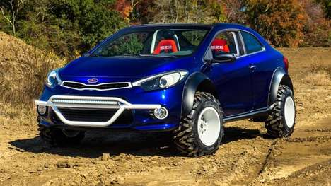 Mud-Loving Korean Cars - The Kia Forte Koup Mud Bogger Likes to Get Its Wheels Dirty