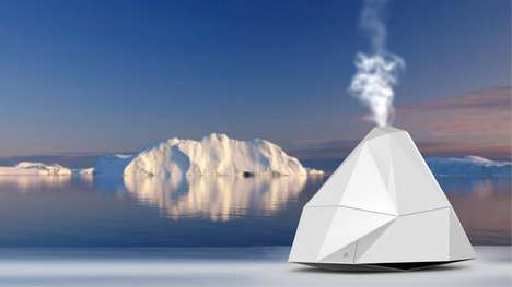 Iceberg-Shaped Humidifiers - This Angular Humidifier is Shaped Like a Natural Iceberg Formation