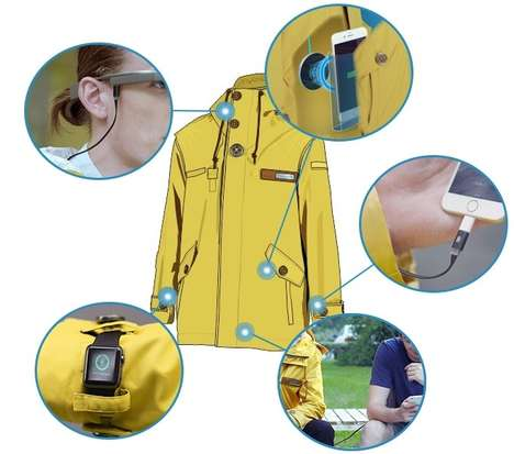 Wired Smart Jackets - The PowearIN Jacket is Embedded With Lots of Technology