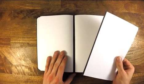 Magnetic Notebooks - This Journal Features Magnetic Pages That Can Be Removed and Reattached