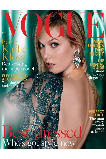 Holiday-Inspired Model Covers - This Magazine Cover Features Karlie Kloss in a Backless Gown