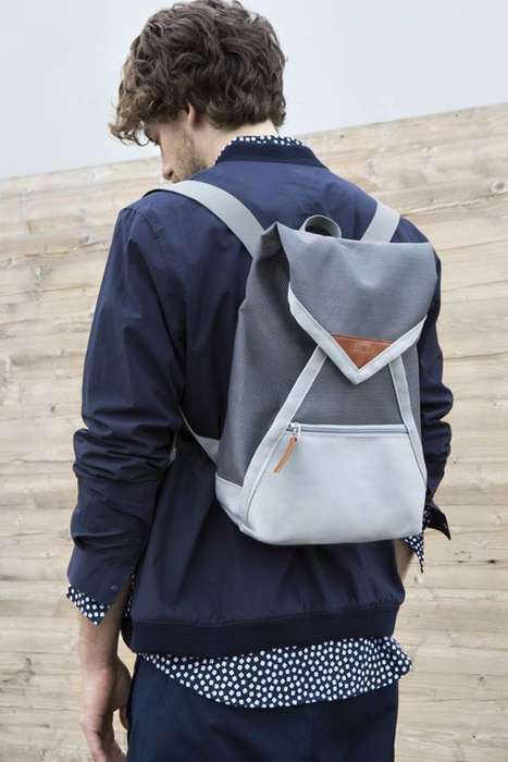 Envelope-Inspired Backpacks - The 'Catamaran' Backpack by Haenska Opens and Closes Like an Envelope