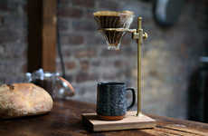Elegant Coffee Stands - This Simple Pour-Over Coffee Brewer is Made with High Quality Materials