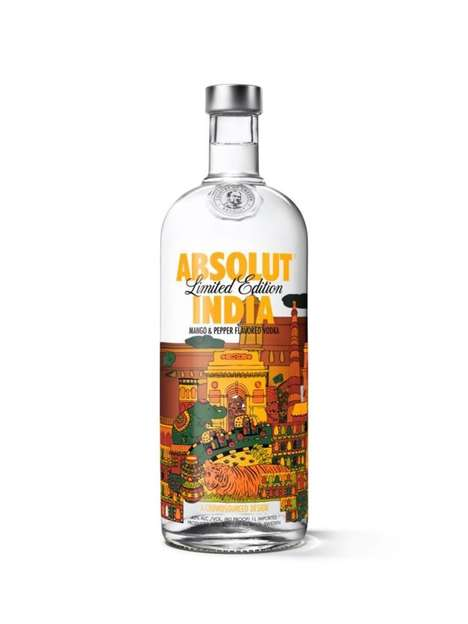 India-Inspired Vodka Bottles - The 'Absolut India Limited Edition' Features Stunning Designs