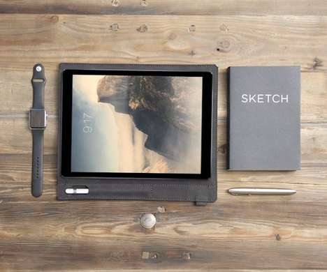 Stylus-Wielding Tablet Cases - The 'Pad & Pencil' iPad Pro Case Holds the Device in a Beautiful Way