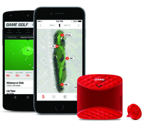 Live-Tracking Golf Devices - The GAME Golf Tracker Delivers Shareable Player Stats in Real Time