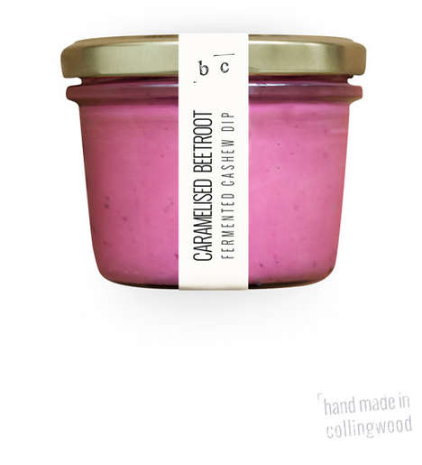Pink Beetroot Dips - Botanical Cuisine's Caramelized Beetroot Dip Boasts a Bold Pink Hue