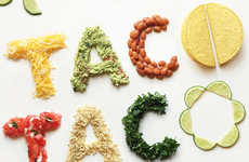 Fresh Veggie Typography - These Images by Becca Clason Use Vegetable to Write Organic Phrases