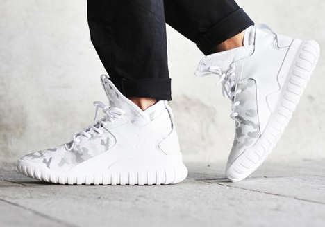 White Camo Sneakers - The adidas Tubular X Receives a Chilly Arctic Camo Print