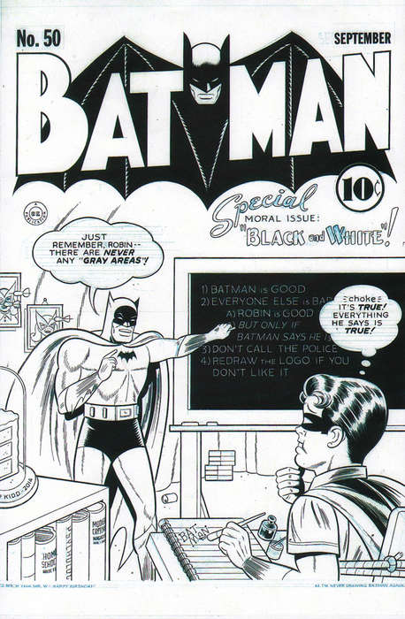 Monochrome Comic Covers - These Batman Covers Feature Pieces by Many Different Artists