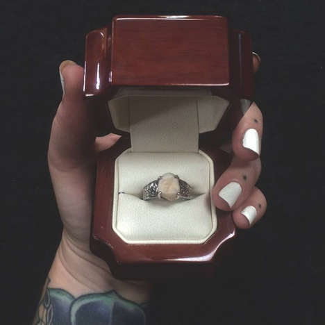 Dental Wedding Bands - This Wisdom Tooth Engagement Ring is Surprisingly Beautiful