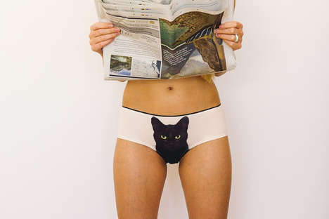 Feline-Adorned Panties - The Cheeky 'Lickstarter' Pussycat Panties Feature Frisky Feline Faces