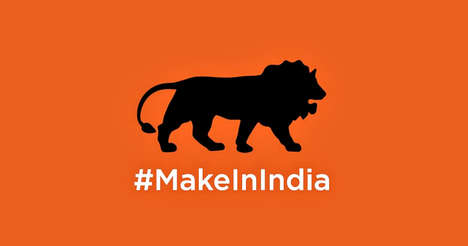 Branded National Emojis - India's Lion Emoji on Twitter Promotes the Country's #MakeInIndia Campaign