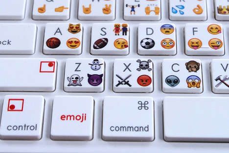 Emoticon Computer Keys - This Bluetooth Keyboard Allows Users to Type Emoji on Their Computers
