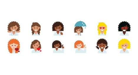Curly-Haired Emojis - Dove Launched a New Emoji Keyboard for Its 'Love Your Curls' Campaign