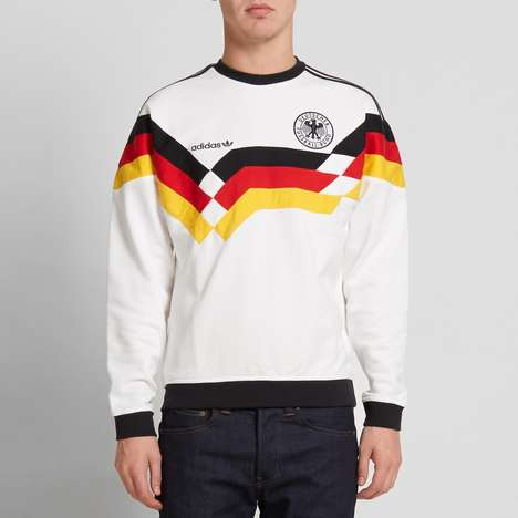 Historical Soccer Sweatshirts - This adidas Beckenbauer DFB Crew Sweat Celebrates the 1990 World Cup