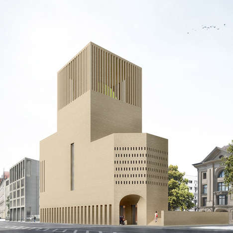 Cohesive Spiritual Retreats - This Religious Building Contains a Synagogue, a Church and a Mosque