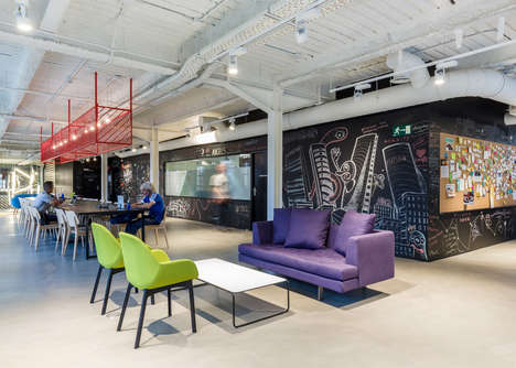 Remodeled Co-Working Spaces - This Collaborative Office is Located in a Former Battery Factory