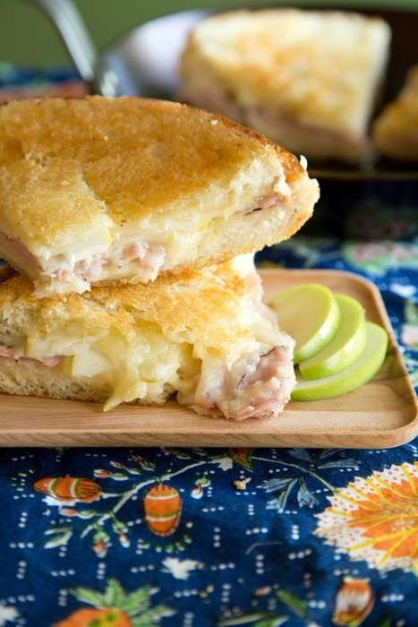 Seasonal Grilled Cheese Sandwiches - This Savory Sandwich Contains Granny Smith Apples