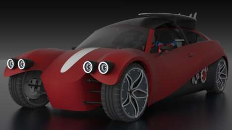 3D-Printed Electric Cars - The LM3D Swim is the World's First 3D-Printed Electric Car