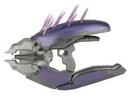 Video Game Gun Replicas - The Halo Needler Toy Gun Has Crystal Shards That Retract When Triggered