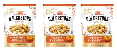 Pumpkin-Flavored Popcorn Snacks - This Company is Now Selling 'Pumpkin Spice Caramel Corn'