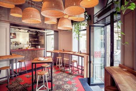 Hungarian-Asian Bistros - The 'Baobao' Restaurant is Adorned with Basket-Weaved Lanterns