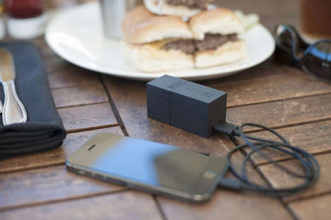 All-in-One Device Chargers - The Bolt iPhone USB Charger Combines a Battery Pack and an Adapter