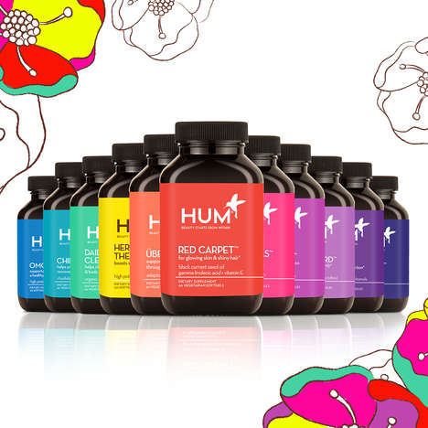 Custom Beauty Supplement Routines - Hum Nutrition is a Line of Cosmetic Dietary Supplements
