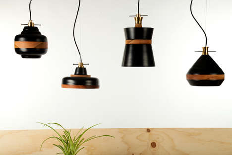 Roulette-Inspired Lamps - The 'Volta Collection' is a Series of Wood and Metal Dangling Lights