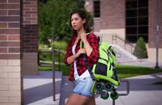 Skateboard-Embedded Backpacks
