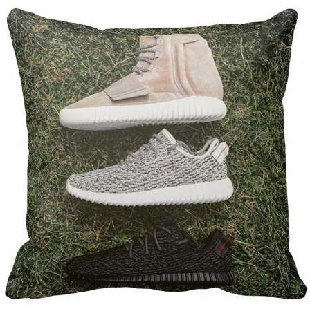 Sneaker-Sporting Pillows - These Yeezy Boost Throw Pillows are Ideal for Fans of Kanye's Sneakers