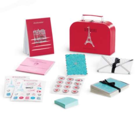Parisian Stationery Sets - American Girl's Bon Voyage Stationary Set for Girls is Travel-Themed
