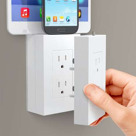 Outlet Device Docks - The thingCHARGER Smartphone Wall Charger is Compatible with Apple and Android