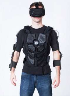 Sensitive Virtual Reality Suits - Haptic Technology Creates Touchable Experiences in This VR Suit