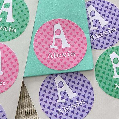Monogrammed Stationery Stickers - These Custom Book Stickers Help Organize and Identify Belongings