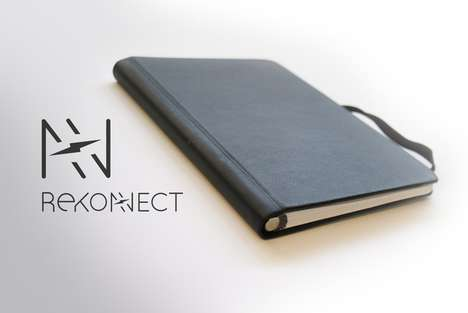 Magnetic Journal Pages - The Rekonect Notebook Features a Magnetic Spine with Reachable Pages