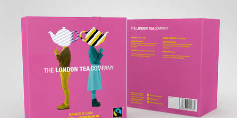 Pop Art Tea Packaging - The London Tea Co. Uses Bright Colors and Graphic Teapots for Its Labels
