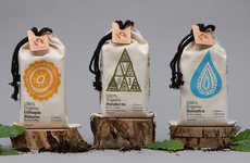 Climate-Branded Coffees - This Java Brand Uses Organic Coffee Bags & Geographic Image Labels