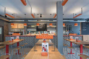This Fast Food Eatery Boasts a Chic Vintage Interior
