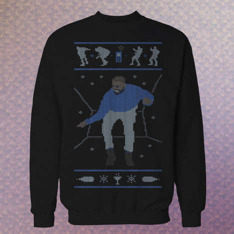 Rapper-Inspired Christmas Sweaters - A Dancing Drake is Knitted on This Celebrity Christmas Sweater