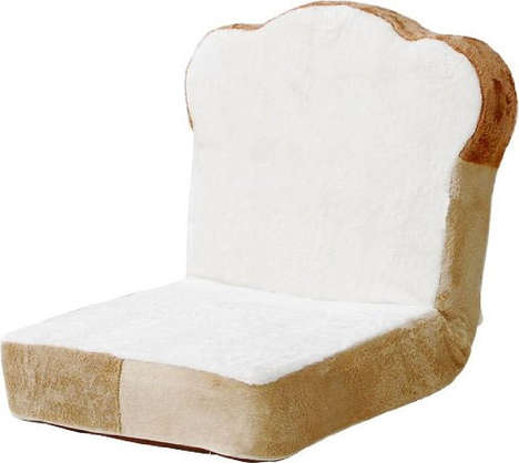 Sliced Bread Chairs - This Quirky Piece of Doughy Furniture is Both Adjustable and Portable